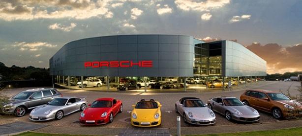 Porsche show room